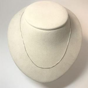 f118 Vintage Sterling Silver Box Link Necklace